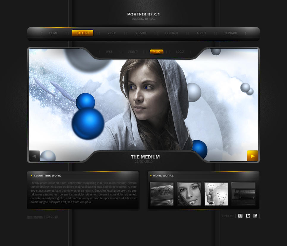 DeviantART Web Design Showcase: Portfolio Templates - nenuno creative