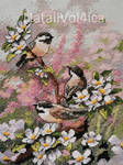 Chickadees in spring by NataliVol4ica