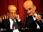 Caricature Aoun vs Geagea