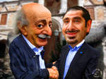 Caricature Jumblat and Hariri