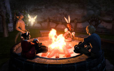 Friendship around the fire is always great