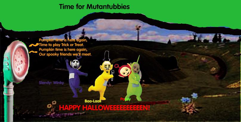 teletubbies halloween a k a mutantubbies by nerdyhrun