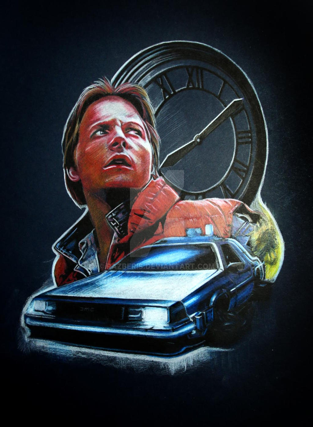 how to draw marty mcfly