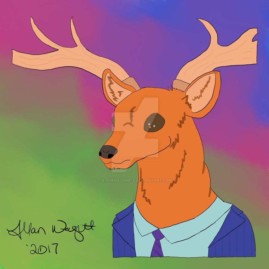 Deer Jesus by x-agent-lime-x