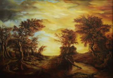 Dan Scurtu - Forest at Sunset