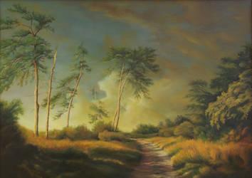 Dan Scurtu - Landscape with Pine Trees