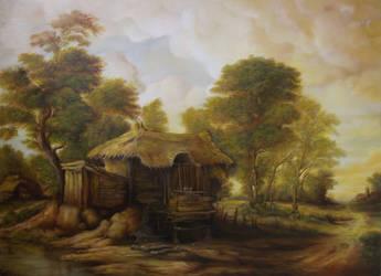 Dan Scurtu - Landscape with Old Hut