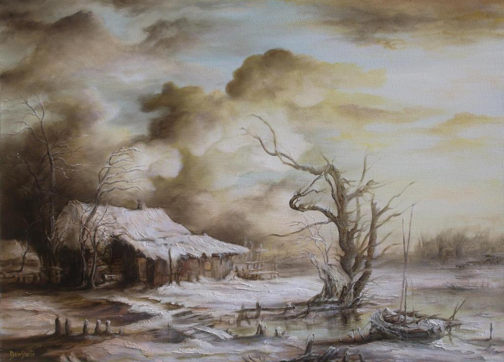 Dan Scurtu - Winter Landscape by DanScurtu