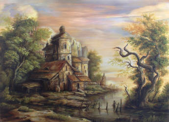 Dan Scurtu - River Scene 5 by DanScurtu