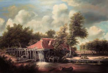Dan Scurtu - Meindert Hobbema's Watermill by DanScurtu