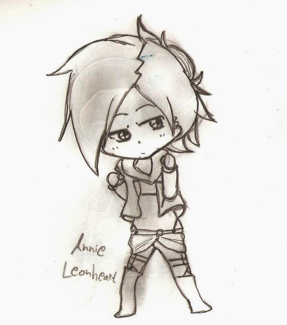 SNK. Chibis Annie Leonheart by princesskaoru on deviantART
