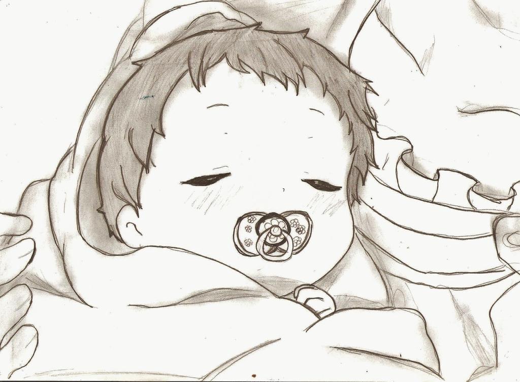 Anime baby sleeping