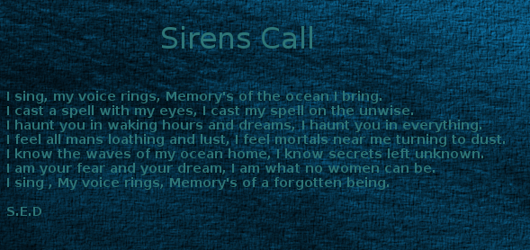 Sirens call by LadyDistain
