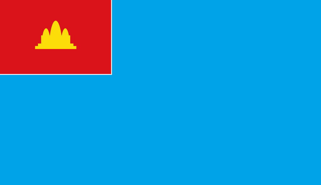 Civil air ensign of Democratic Kampuchea by warblooda