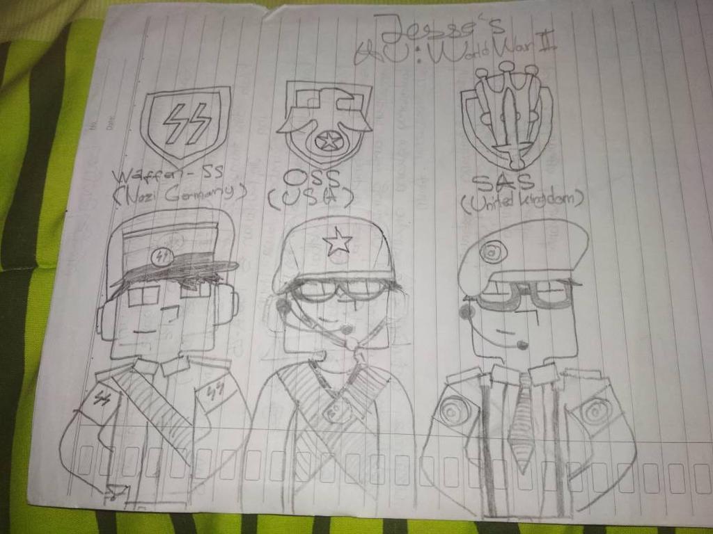 Minecraft Story Mode-M!Jesse World War 2 costumes by