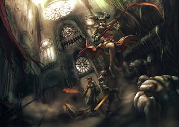 battle scene by eniqma2000