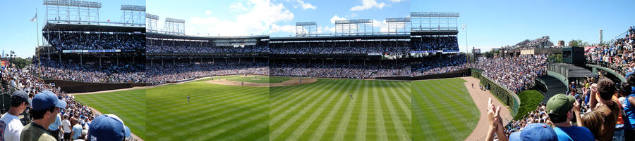 Wrigley Field Panoramic Composite