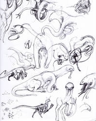 Early Gapuri concept sketches by exo-bio