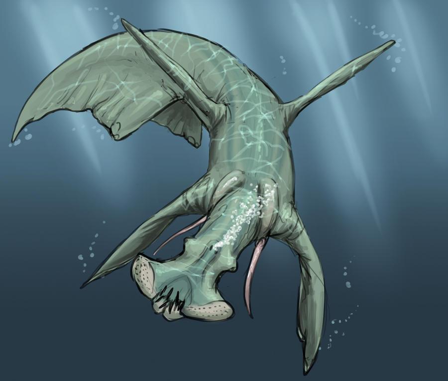 Aquatic predator sketch by Exobio