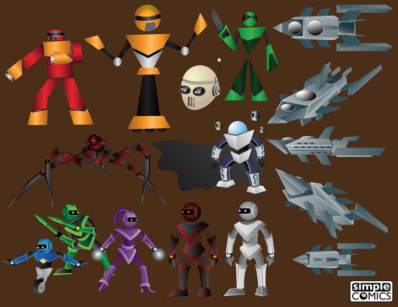 DigiDoodles 18 - Robots Styles (2/2) by simpleCOMICS
