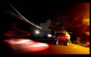 Corolla AE86 in night drift