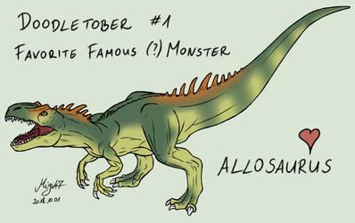 Doodletober 01: Favorite famous monster by Migi47