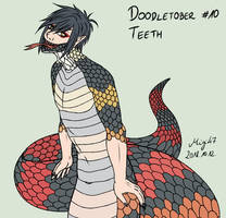 [OC: HOT] Doodletober 10: Teeth by Migi47