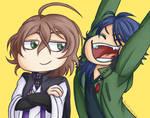 [FanArt: HypMic] Expression meme 01 by Migi47