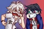 [FanArt: HypMic] Expression meme 02 by Migi47