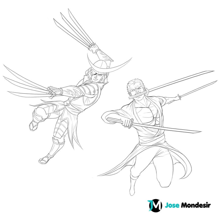 Masamune vs Zorro by JoseMondesir