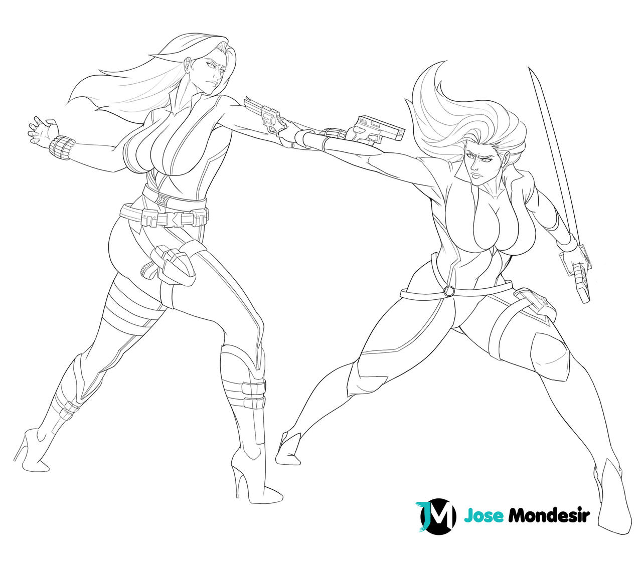 Black Widow vs Talia Ahgul by JoseMondesir