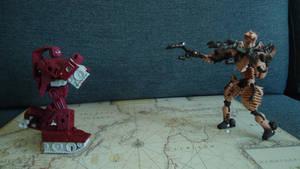 Tank Autobot vs Fossilized Predacon