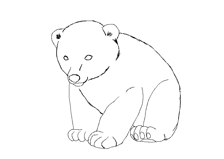 Line Art Bear : Bear cub lineart by zephyrrocks on deviantart