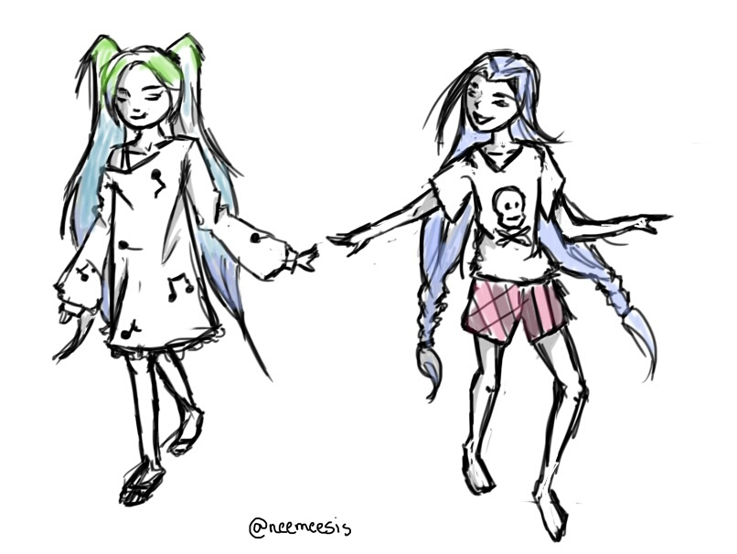 Little Sona and Jinx by Neemeesis