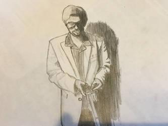 Self Sketch Number Two by J-Edgar-Pinkerton