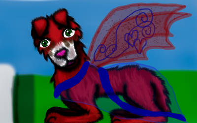 Wing pixe wolf pup
