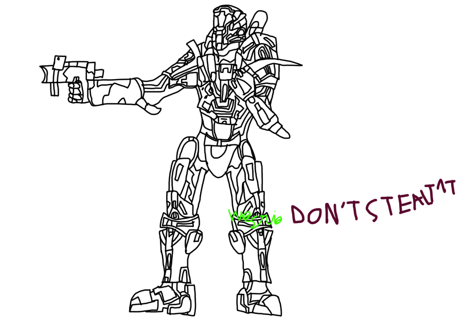 Halo 4 Spartan- WIP Lined by Grace-Winters