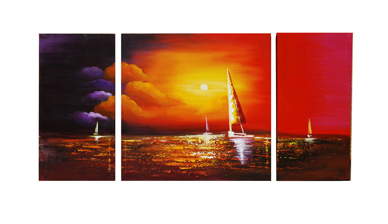 Sunset Sailboats by ModernArtist123