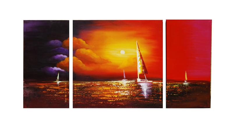 Sunset Sailboats by ModernArtist123