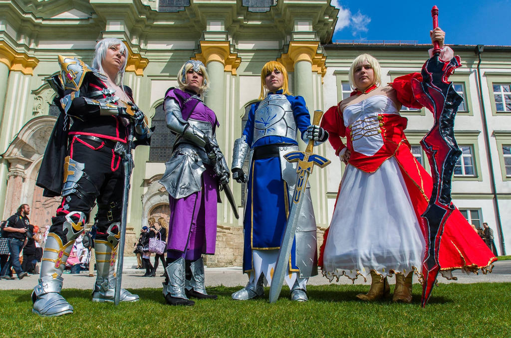 Fate Cosplay Group by Hepheistion