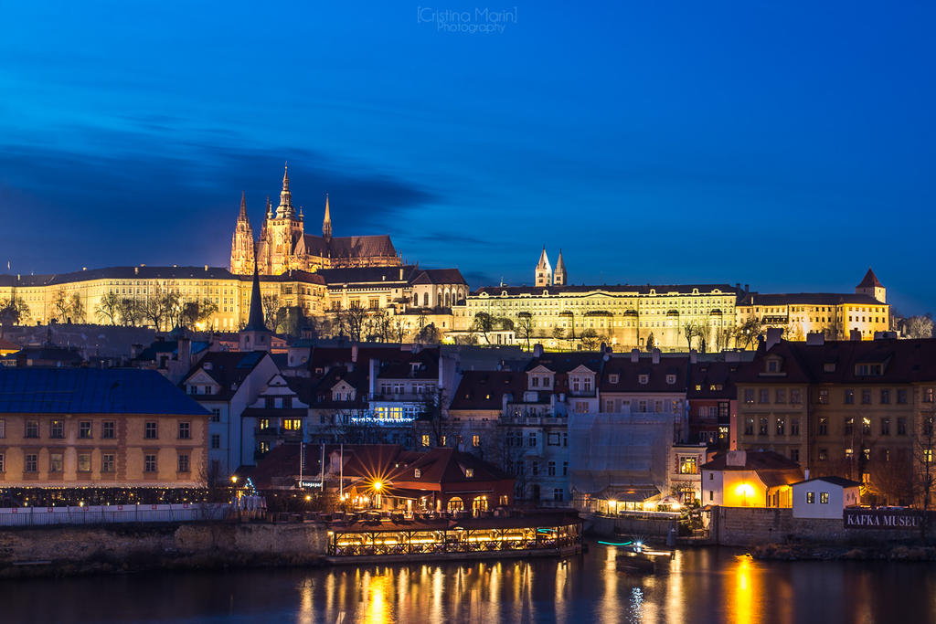 Prague Castle After Dark by MarinCristina