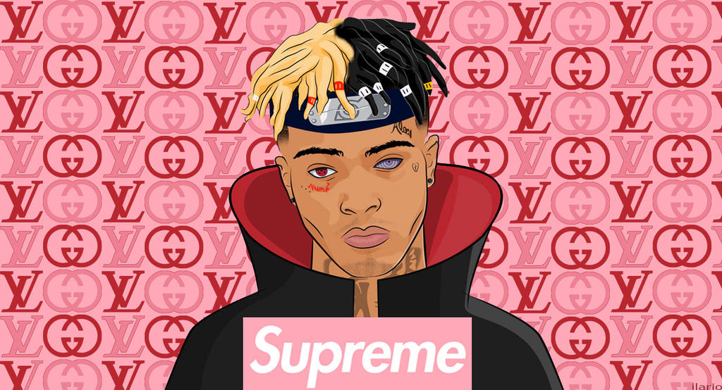 XXXTENTACION Wallpaper Supreme LV GUCCI