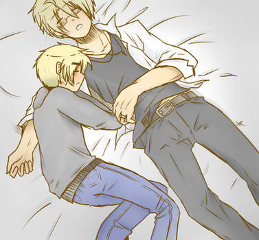 SLEEPING TOGETHER by akitokun1