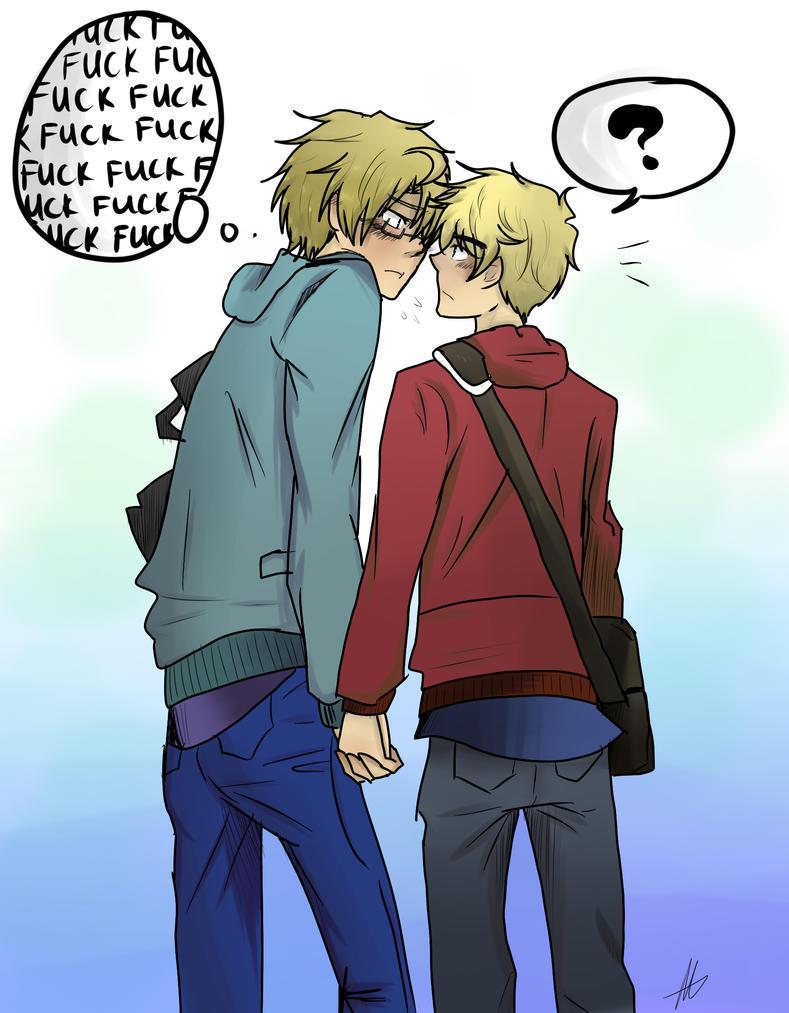 KISS HIM ALREADY by akitokun1