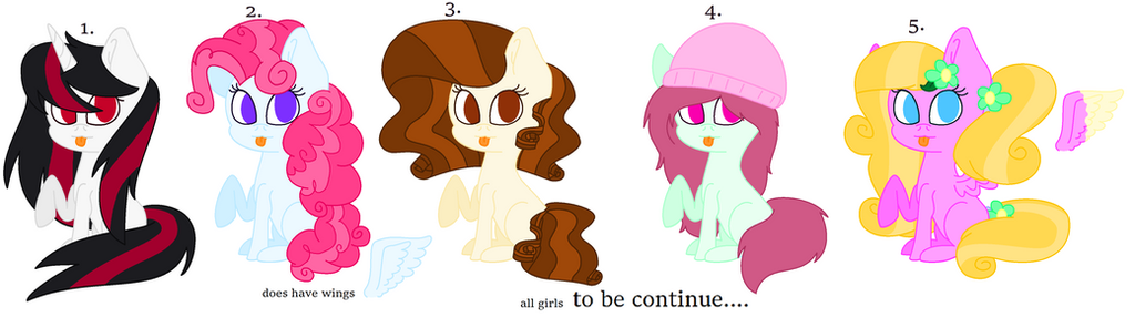 mlp adoptable (BID/POINTS ONLY) open by cutepuppygirl10
