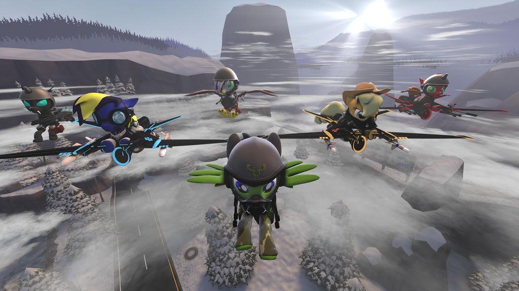 Faceless Flyers (4K Test) by DeltaHooves