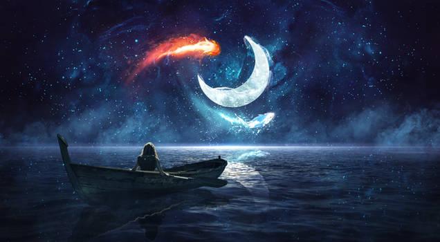 The Spirits: Moon and Sun by CaelGibran
