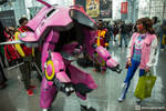 Me and my wife made a D.va/Meka cosplay for NYCC!
