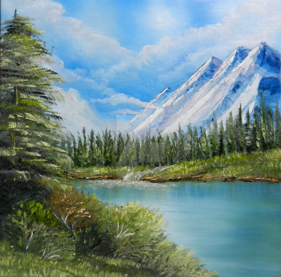 Bob Ross Style by ChalkyCanvas