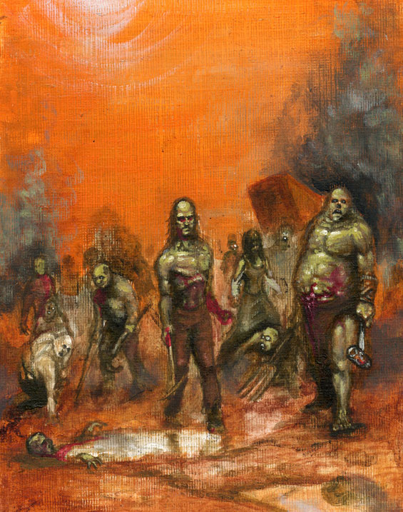 Zombies Oil Sketch! by jd84